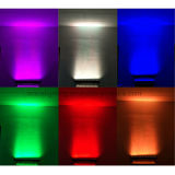 Contrôle de pixel couverte 18x10W RGBW 4en1 LED LED Mural Flood stade de la barre d'effet bande lumineuse