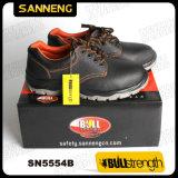 Промышленные защитная обувь из натуральной кожи с новыми PU/PU (SN5554)