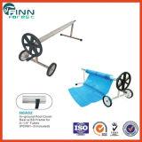 Rollo de cobertura de piscina ajustável de aço inoxidável Roller Swimmng com rodas