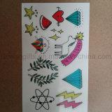 Os desenhos animados caçoam as etiquetas do tatuagem, etiqueta provisória do tatuagem do corpo para presentes relativos à promoção