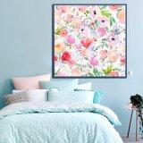 El color de rosa florece la pintura al óleo de la lona