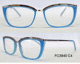 Het nieuwe Optische Frame van de Acetaat van de Goede Kwaliteit voor Dame met Metaal (Ce) Eyewear