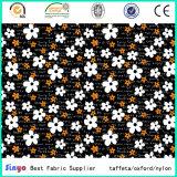 Fleur de textile de polyester et tissu multicolores d'impression de modèle de Leaft