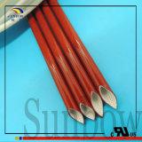 Fibra de vidro do silicone de Sunbow que Sleeving com aprovaçã0 do alcance do UL RoHS