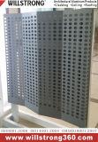 Panneau en aluminium perforé pour l'intérieur Revêtement mural