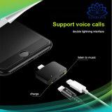 2 in 1 Audiojack-Aufladeeinheits-Blitz-Adapter für iPhone 7 iPhone 8 kompatiblen IOS 11.0.3