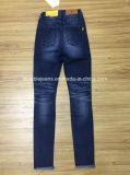 глубокие голубые джинсыы женщин 10.6oz (HYQ68-03GDT)