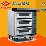 Kommerzieller elektrischer Ofen der Qualitäts-Heizungs-3-Deck 6-Tray für Verkauf
