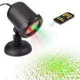 Nova Estrela controlável remoto padrão 8 movendo jardim à prova de Decoração de Natal de luz laser verde+Red