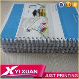 Vente en gros Custom imprimé spirale ordinateur portable avec du papier coloré