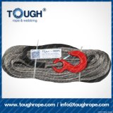 Fibra 100% resistente de Uhwmpe da corda da corda sintética cinzenta do guincho da cor 9.5mmx30m4X4