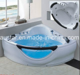 Bañera Spa masaje de la esquina con la parte delantera de vidrio para 2 persona (A-9806)