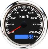 Barco Universal velocímetro GPS Coche Digital Velometer de moto kilometraje total con retroiluminación ajustable