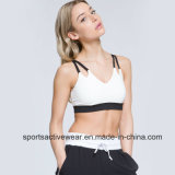 La gymnastique sèche de dessus de yoga de femmes rapidement s'use le soutien-gorge de sport sportif