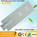 Al aire libre todos en luces de una calle solares ligeras de 20W altas LED