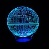 Bluetoothのスピーカーが付いているスターウォーズの死の星3D LED夜ライト