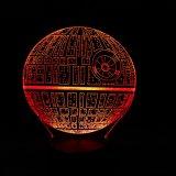 Nachtlicht des Star Wars-Todesstern-3D LED mit Bluetooth Lautsprecher