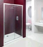 목욕탕 6mm 강화 유리 미끄러지는 샤워 문 울안 (MSL100)