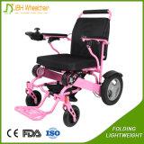 Sedia a rotelle a pile autoalimentata leggera del motore senza spazzola delle 4 rotelle elettrica
