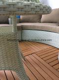Conjuntos de patio al aire libre muebles de ratán y madera-plástico de jardín Sofá (TG-8131)
