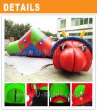 新しいデザイン膨脹可能な幼虫のトンネルのおもちゃのイベントの使用料のための膨脹可能なワームのトンネル