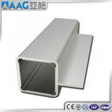 Pipe 6063-T5 rectangulaire en aluminium anodisée
