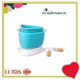 Многоцелевой красочные портативный Custom силиконового герметика капсула таблетки контейнер .
