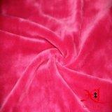 Doppelseitiges korallenrotes Flanell-Haus kleidet Gewebe für Pyjamas/Zudecke