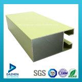La poudre personnalisée de tissu pour rideaux de porte de guichet du Nigéria a enduit le profil d'aluminium de 6063 alliages