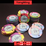 Diseño impreso personalizado/ fichas de póquer juegos de casino (YMCP007-008)