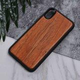 Cubiertas protectoras superiores de madera verdaderas del teléfono celular para el iPhone X