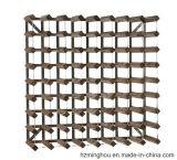 Présentoir en bois en gros d'usine avec la crémaillère en acier galvanisée de vin