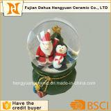 Globo de água de vidro de mini tamanho Santa Claus para o Natal