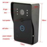 """7 """" система внутренней связи телефона двери монитора 2.4G касания ключевая беспроволочная видео-"""