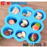 9 решеток BPA освобождают поднос кубика льда дополнения babyfood силикона платины коробки тары для хранения babyfood с крышкой