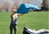 膨脹可能な空気ソファーの空気Loungerの防水不精なLaybagスリープの状態である多彩な寝袋