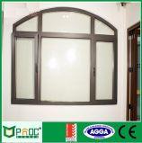 Aluminio arqueado de Casement Windows con una función de obturador ciego Pnoc0050cmw
