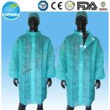 Revestimento descartável do laboratório, vestido do laboratório de PP/SMS