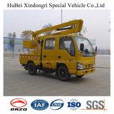 전기를 위한 9.6m Isuzu Euro4 공중 플래트홈 특별한 트럭