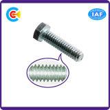 Aço de carbono / 4.8 / 8.8 / 10.9 Parafuso hexagonal galvanizado para construção e ponte