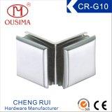 Двойник сплава цинка Arc-Shaped встает на сторону зажим стеклянной перегородки (CR-G10)