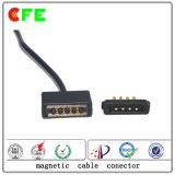 관례 4pin Pogo Pin 셀룰라 전화를 위한 자석 케이블 연결관