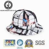 Chapéu da cubeta do tampão de Sun do chapéu da pesca de 2018 esportes do poliéster da impressão da tela da qualidade da forma