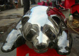 Preciosa del acero inoxidable de la panda, jardín al aire libre, la decoración, la escultura regalo
