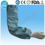 방수 처분할 수 있는 소매 덮개의, 백색 또는 파란 또는 녹색 PE 팔 소매