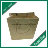 PPのハンドルによって包む服装のための再生利用できるクラフト紙袋