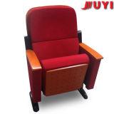 Fija en el piso del respaldo plegable de tela a prueba de fuego de madera maciza Actualizar Conferencia mesa escritorio plegable silla