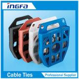 Bande dans le serre-câble en plastique d'acier inoxydable de distributeur