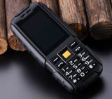 Ruwe Telefoon Dtno. I Nr 1 A9 met GSM SIM 2g 4800mAh van de Schokbestendige 2.4 Duim van het Flitslicht de Stofdichte Dubbele Zwarte Kleur van de Bank van de Macht