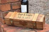 La ceremonia personalizados vino de madera con cerradura Hinges-Lockable Caja con 2 caja de vino de Madera
